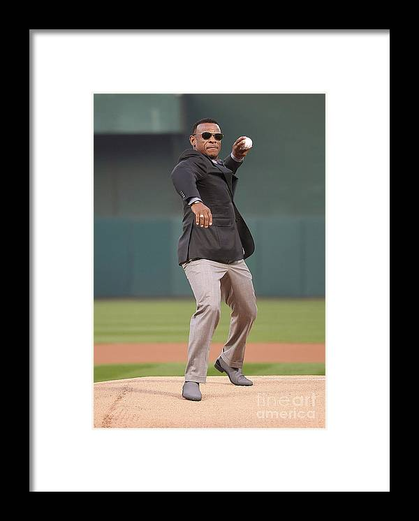 People Framed Print featuring the photograph Rickey Henderson by Thearon W. Henderson