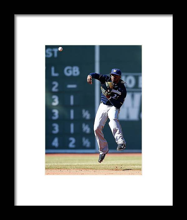 American League Baseball Framed Print featuring the photograph Rickie Weeks by Jared Wickerham