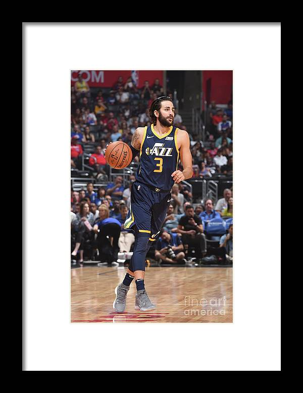 Nba Pro Basketball Framed Print featuring the photograph Ricky Rubio by Andrew D. Bernstein