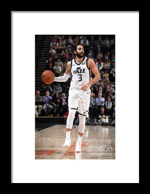 Nba Pro Basketball Framed Print featuring the photograph Ricky Rubio by Garrett Ellwood