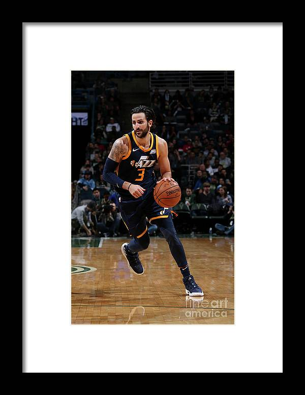 Nba Pro Basketball Framed Print featuring the photograph Ricky Rubio by Gary Dineen