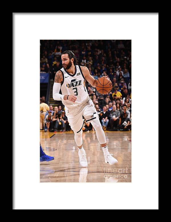 Nba Pro Basketball Framed Print featuring the photograph Ricky Rubio by Noah Graham
