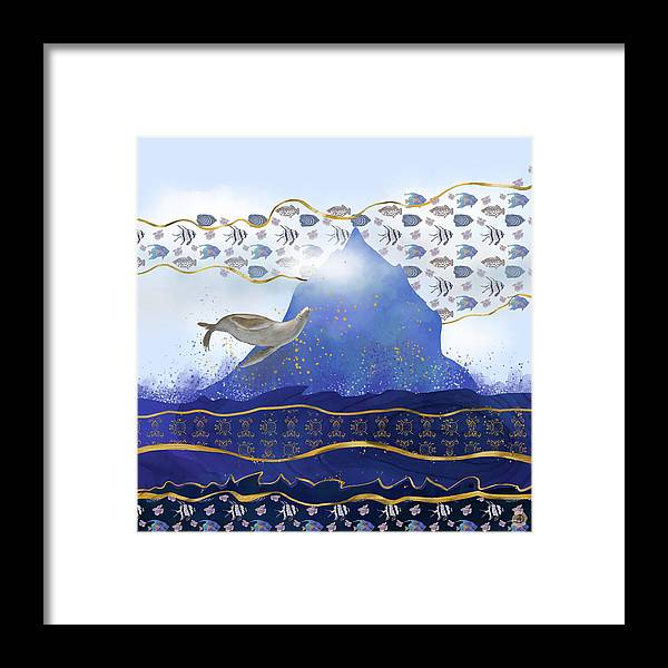Climate Change Framed Print featuring the digital art Rising Oceans - Surreal World by Andreea Dumez