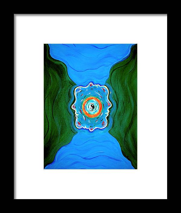 Taoist Framed Print featuring the painting River Of Dreams by Donna Proctor