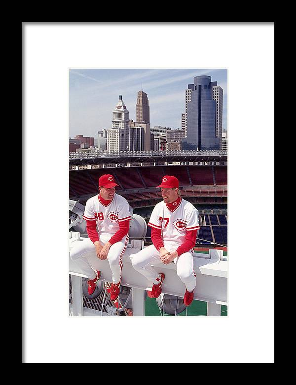 Rob Dibble Framed Print featuring the photograph Rob Dibble by Ronald C. Modra/sports Imagery