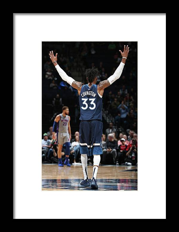 Nba Pro Basketball Framed Print featuring the photograph Robert Covington by David Sherman