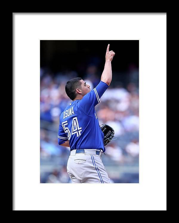 American League Baseball Framed Print featuring the photograph Roberto Osuna by Elsa