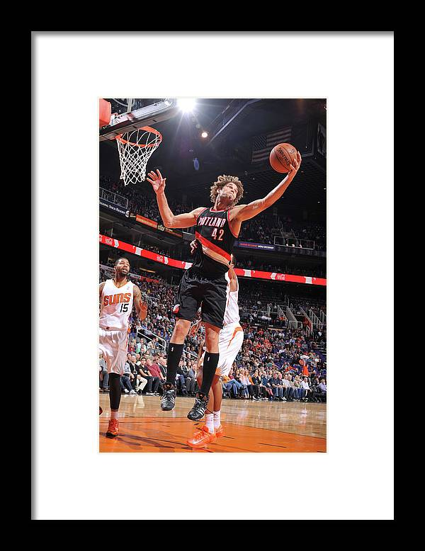 Nba Pro Basketball Framed Print featuring the photograph Robin Lopez by Barry Gossage