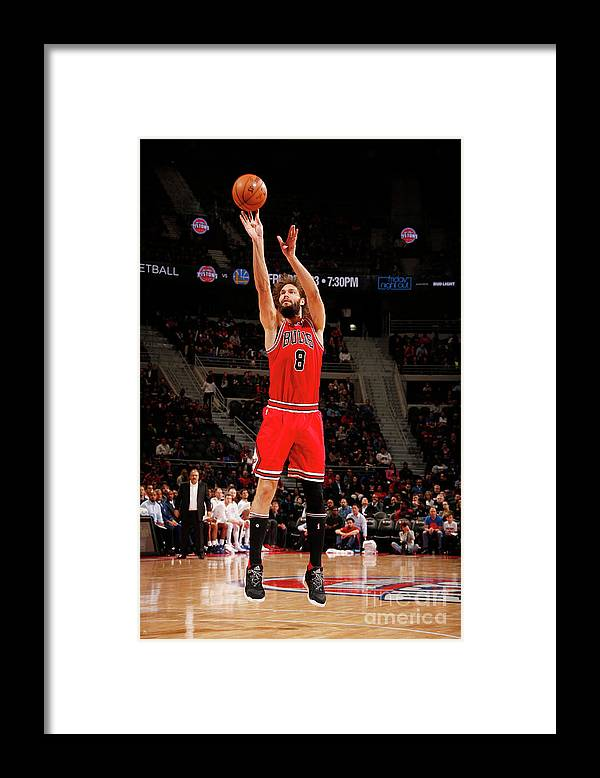 Nba Pro Basketball Framed Print featuring the photograph Robin Lopez by Brian Sevald