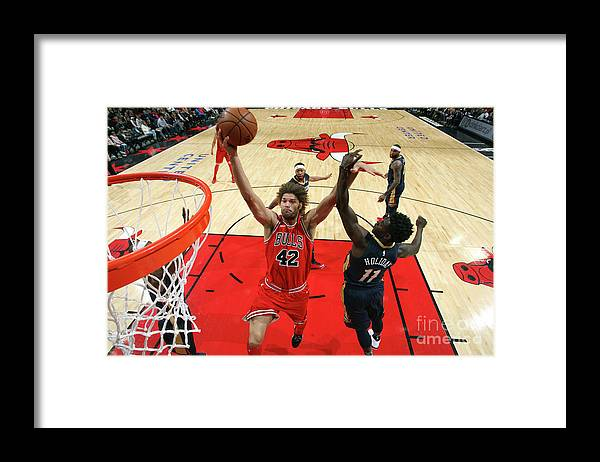 Nba Pro Basketball Framed Print featuring the photograph Robin Lopez by Gary Dineen