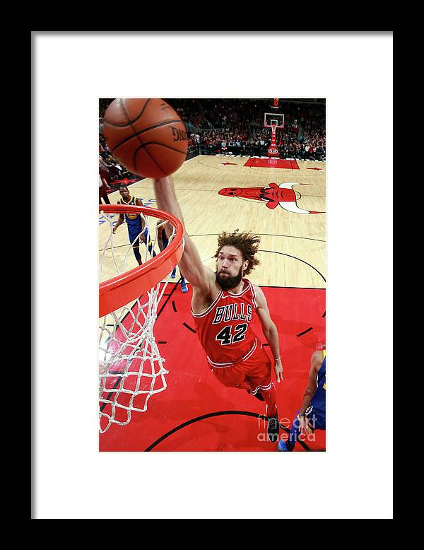 Nba Pro Basketball Framed Print featuring the photograph Robin Lopez by Jeff Haynes