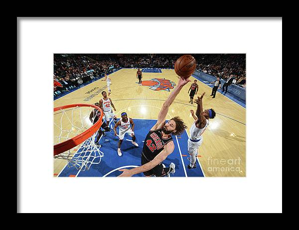 Nba Pro Basketball Framed Print featuring the photograph Robin Lopez by Jesse D. Garrabrant