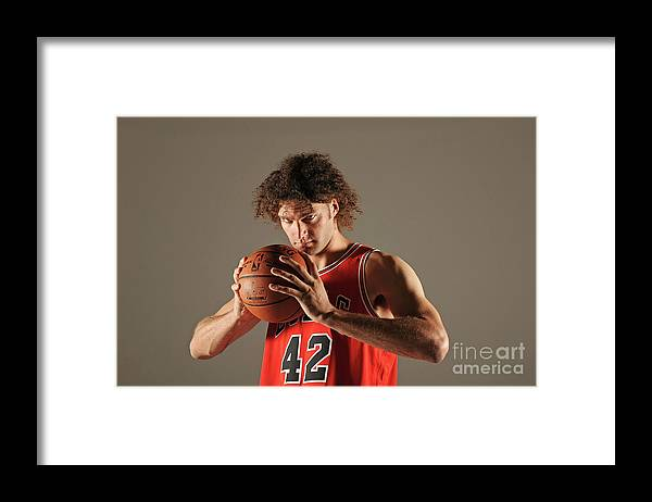 Media Day Framed Print featuring the photograph Robin Lopez by Randy Belice