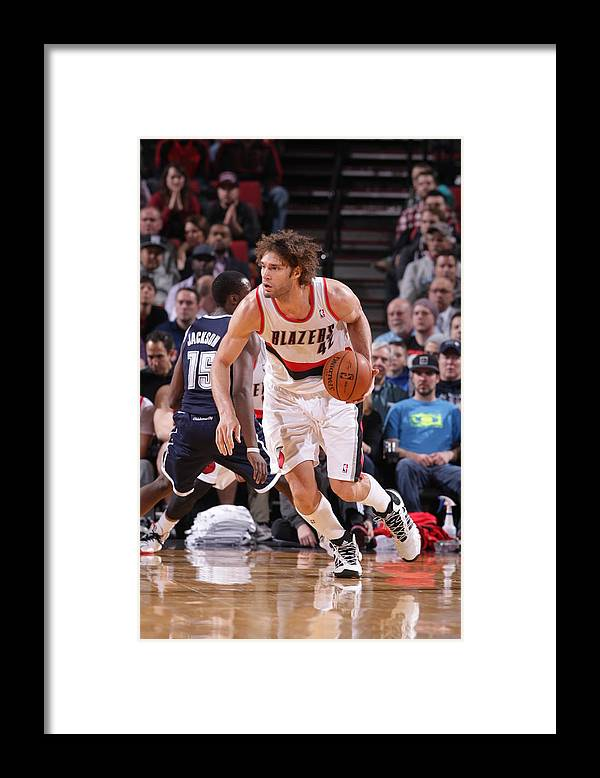 Nba Pro Basketball Framed Print featuring the photograph Robin Lopez by Sam Forencich