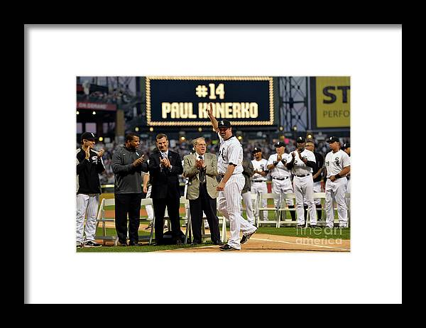 Robin Ventura Framed Print featuring the photograph Robin Ventura and Paul Konerko by Brian Kersey