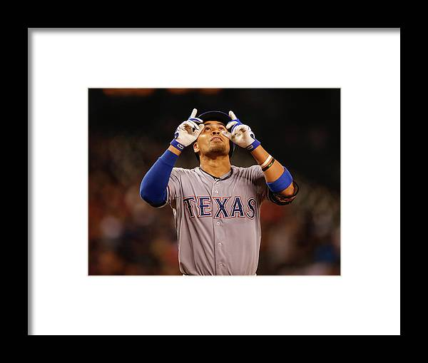 American League Baseball Framed Print featuring the photograph Robinson Chirinos by Otto Greule Jr