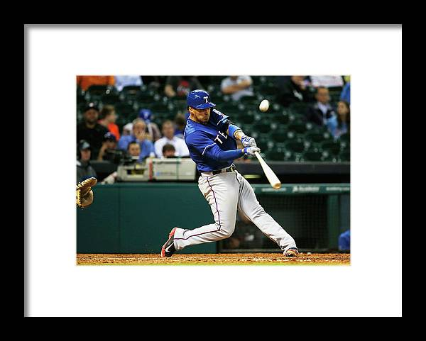 American League Baseball Framed Print featuring the photograph Robinson Chirinos by Scott Halleran