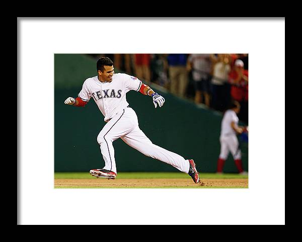 American League Baseball Framed Print featuring the photograph Robinson Chirinos by Tom Pennington