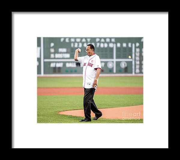 People Framed Print featuring the photograph Rod Carew by Billie Weiss/boston Red Sox