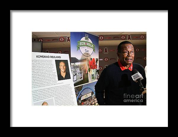 People Framed Print featuring the photograph Rod Carew by Jayne Kamin-oncea