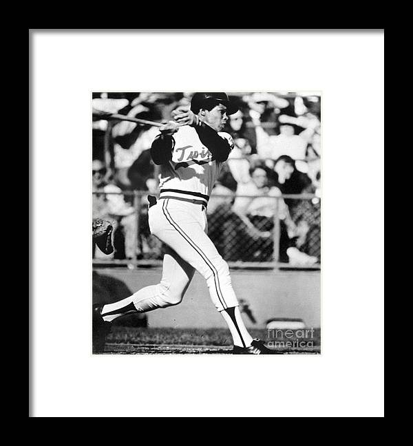 American League Baseball Framed Print featuring the photograph Rod Carew by National Baseball Hall Of Fame Library