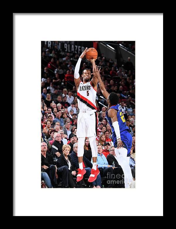 Playoffs Framed Print featuring the photograph Rodney Hood by Garrett Ellwood