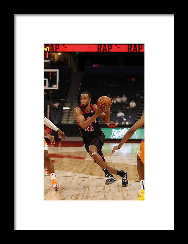 Nba Pro Basketball Framed Print featuring the photograph Rodney Hood by Scott Audette