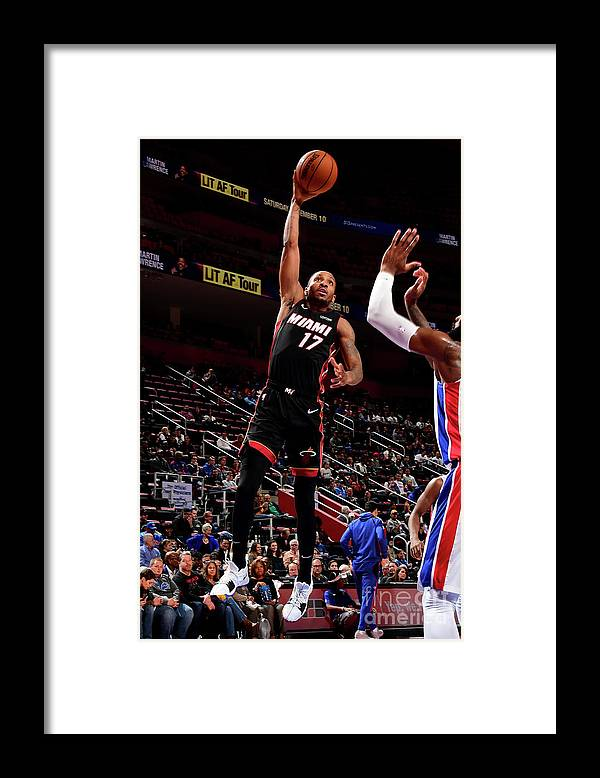 Nba Pro Basketball Framed Print featuring the photograph Rodney Mcgruder by Chris Schwegler