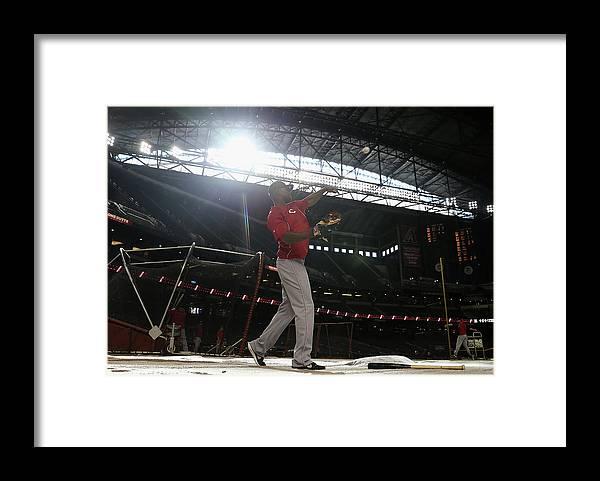 National League Baseball Framed Print featuring the photograph Roger Bernadina by Christian Petersen