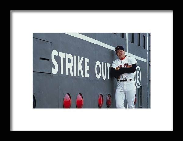 1980-1989 Framed Print featuring the photograph Roger Clemens by Ronald C. Modra/sports Imagery