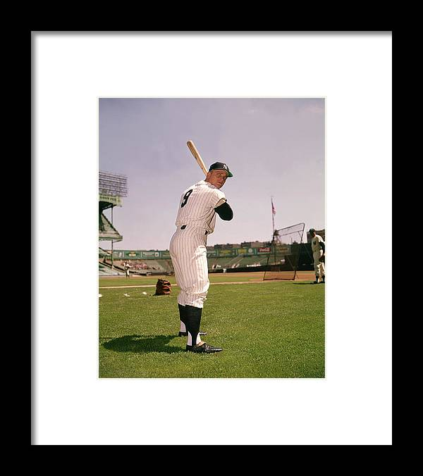 American League Baseball Framed Print featuring the photograph Roger Maris by Louis Requena