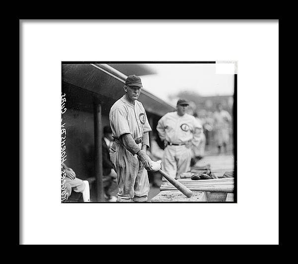 People Framed Print featuring the photograph Rogers Hornsby by Chicago History Museum