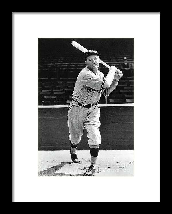 1910-1919 Framed Print featuring the photograph Rogers Hornsby by National Baseball Hall Of Fame Library