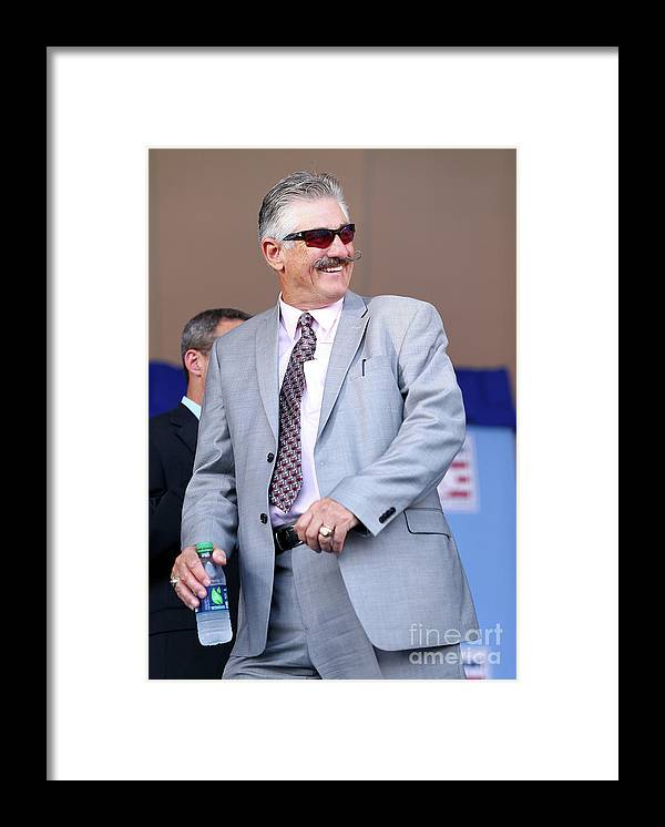 Three Quarter Length Framed Print featuring the photograph Rollie Fingers by Elsa