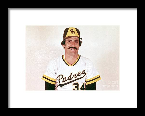 Rollie Fingers Framed Print featuring the photograph Rollie Fingers by Mlb Photos