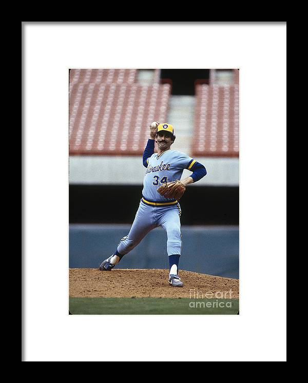 1980-1989 Framed Print featuring the photograph Rollie Fingers by Rich Pilling