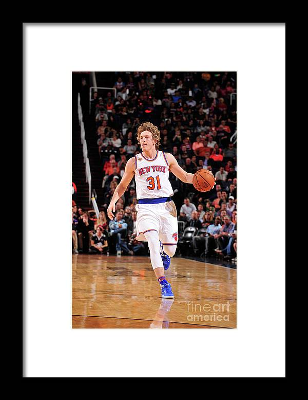 Nba Pro Basketball Framed Print featuring the photograph Ron Baker by Barry Gossage