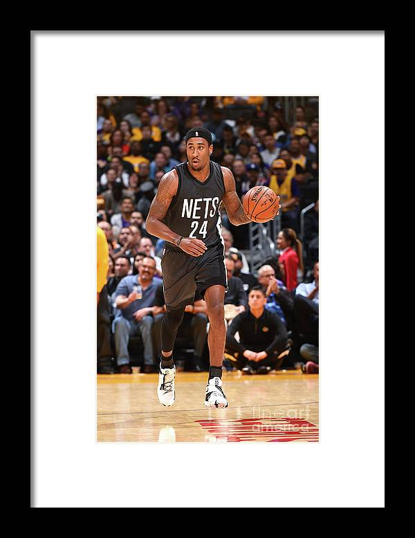 Nba Pro Basketball Framed Print featuring the photograph Rondae Hollis-jefferson by Andrew D. Bernstein