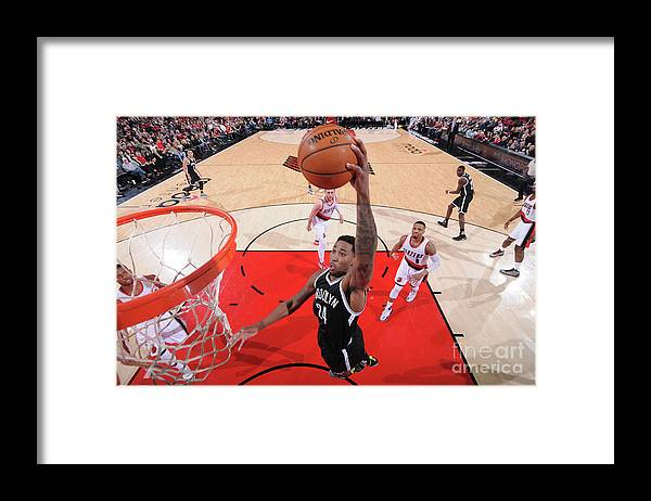 Nba Pro Basketball Framed Print featuring the photograph Rondae Hollis-jefferson by Sam Forencich