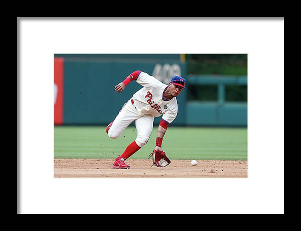 People Framed Print featuring the photograph Ronny Cedeno by Brian Garfinkel