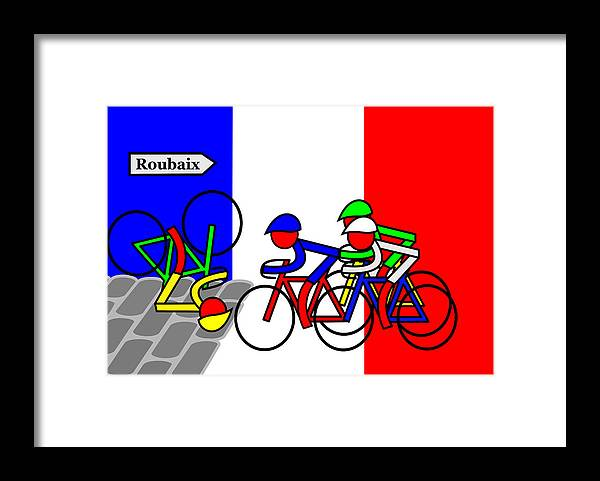Roubaix Framed Print featuring the mixed media Roubaix by Asbjorn Lonvig