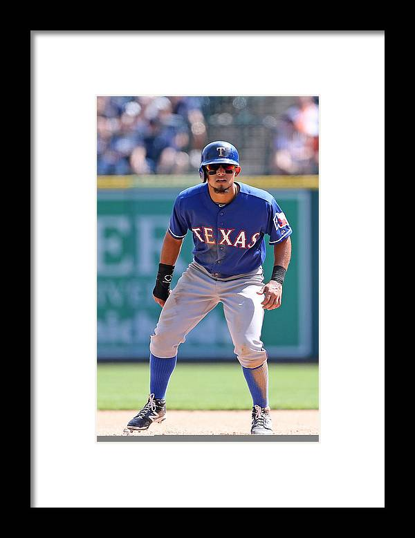 American League Baseball Framed Print featuring the photograph Rougned Odor by Leon Halip