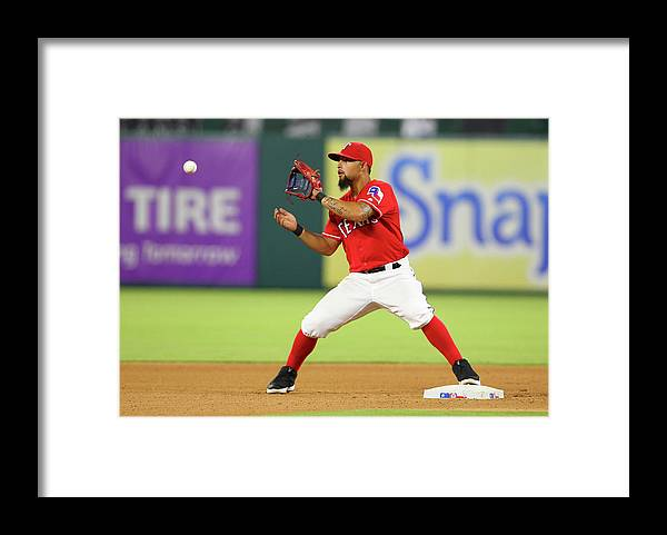 Double Play Framed Print featuring the photograph Rougned Odor by R. Yeatts