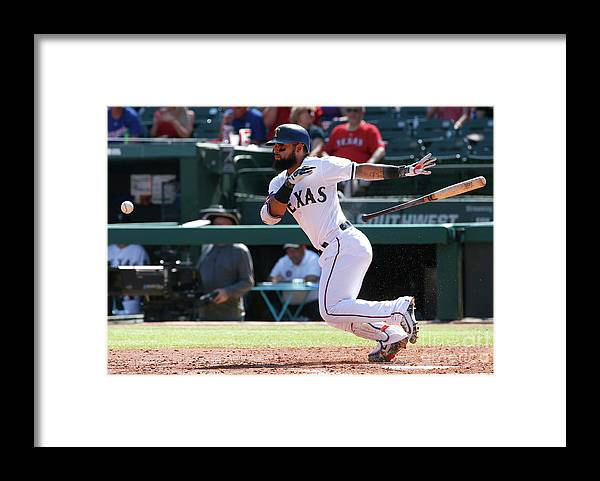 People Framed Print featuring the photograph Rougned Odor by Ron Jenkins
