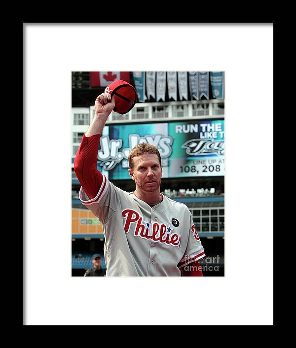People Framed Print featuring the photograph Roy Halladay by Abelimages