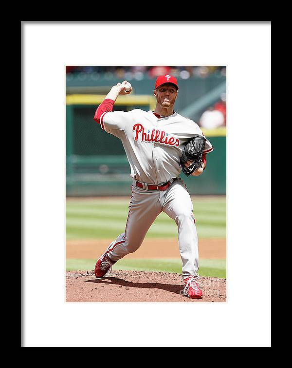 Minute Maid Park Framed Print featuring the photograph Roy Halladay by Bob Levey