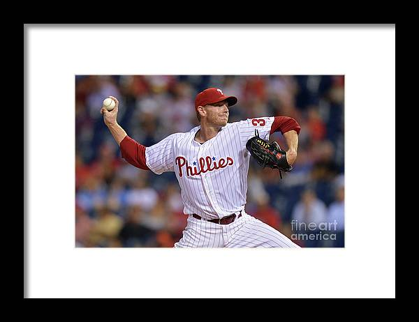 Three Quarter Length Framed Print featuring the photograph Roy Halladay by Drew Hallowell