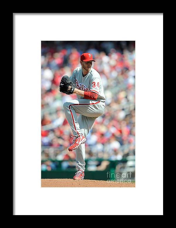 Baseball Pitcher Framed Print featuring the photograph Roy Halladay by G Fiume