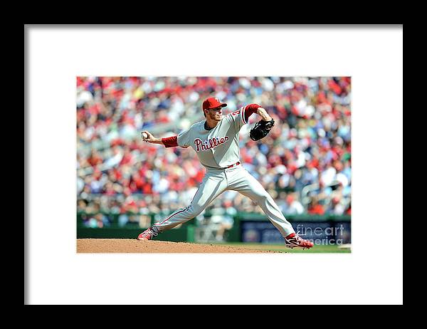 Baseball Pitcher Framed Print featuring the photograph Roy Halladay by Greg Fiume