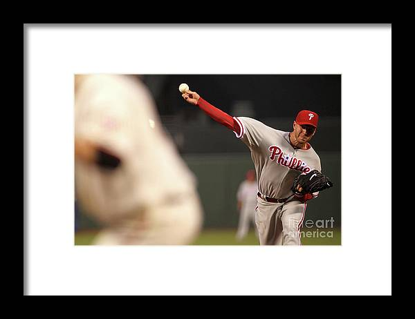California Framed Print featuring the photograph Roy Halladay by Jed Jacobsohn